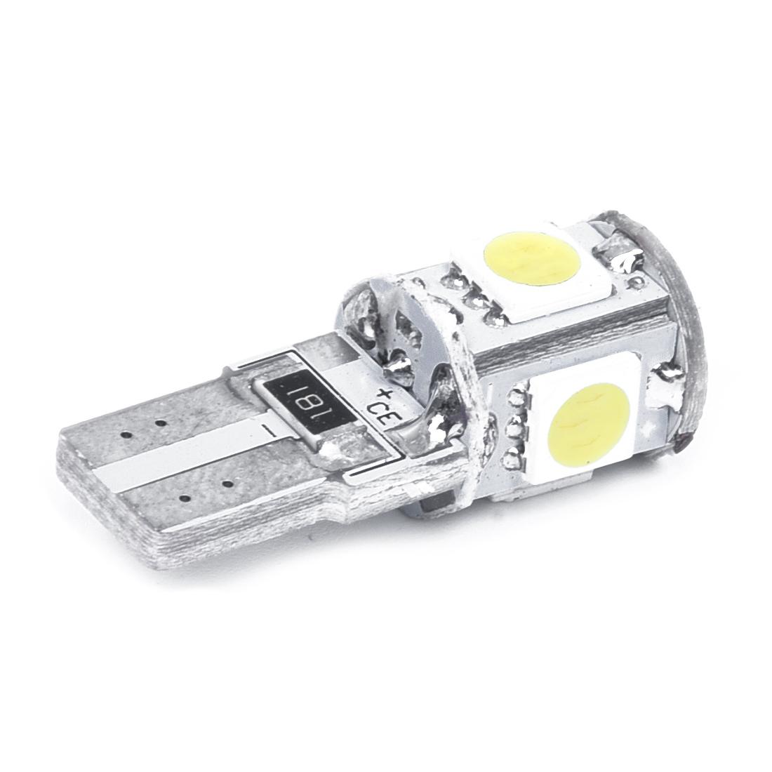 5x 2x ampoule 5 led smd w5w t10 blanc xenon veilleuse lampe voiture anti sans wt ebay. Black Bedroom Furniture Sets. Home Design Ideas