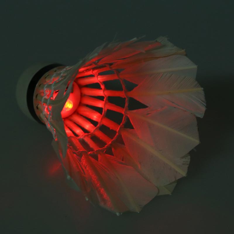 Bälle 5 * dunkle Nacht Badminton mit LED Beleuchtung Federbaelle Multifarben K8W3 1X