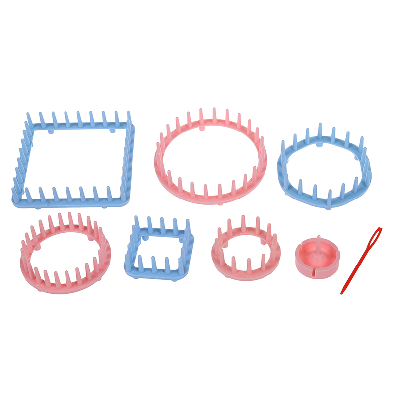 9PCS-Blumen-Knitting-Loom-Blumen-Muster-Maker-Wolle-Garn-Nadel-Strickhandwe-F6P2