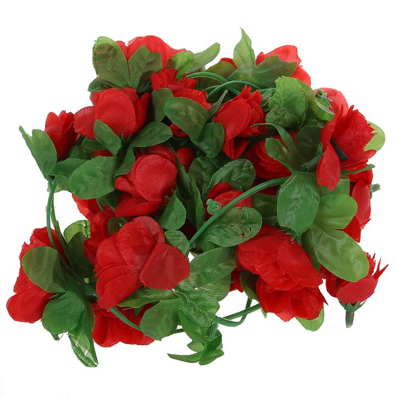 guirlande de rose artificielle pour decoration de jardin maison mariage u7 ebay. Black Bedroom Furniture Sets. Home Design Ideas