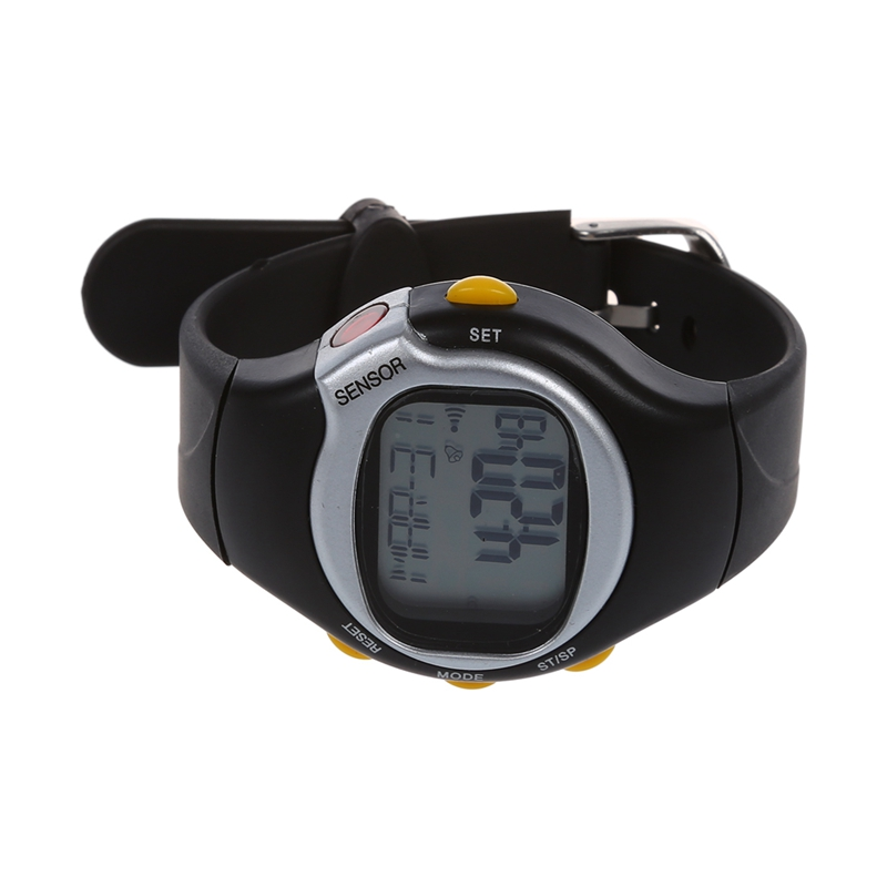 Sport Pulse Heart Rate Monitor Calories Counter Fitness Wrist Watch Black X9O6)