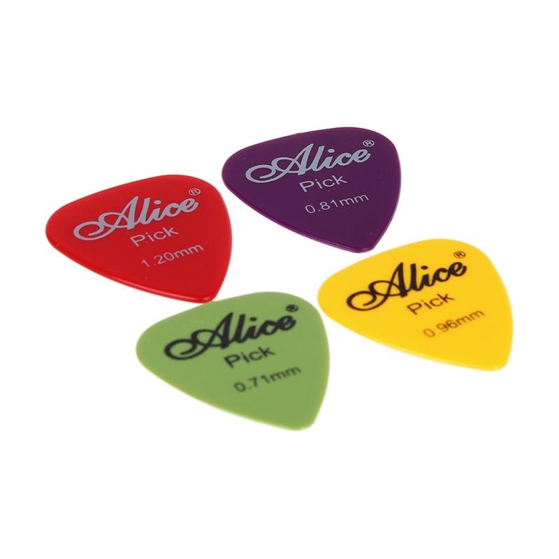 12-Fach Elektro-Akustik-Gitarren-Auswahl Plektrum Sortierte Farben 6 Dicke F9Q8