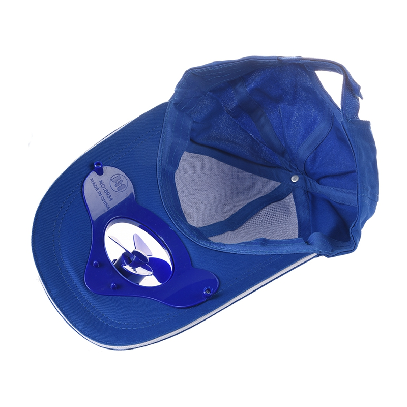 992d15b22fc Summer Outdoor Solar Sun Power Hat Cap Cooling Cool Fan for Golf ...