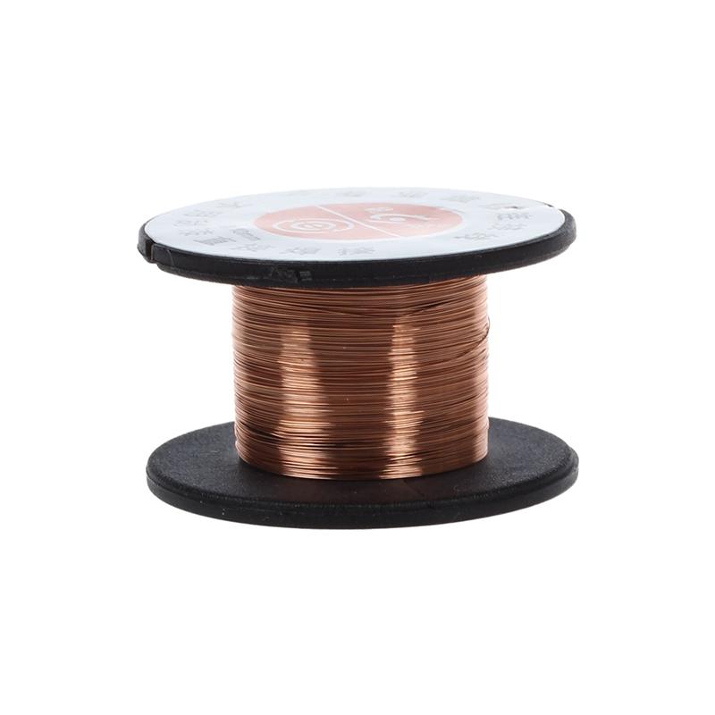 1pcs 15m 0.1mm cuivre a souder soudure emaille bobine de fil Rouleau Connexi 20X