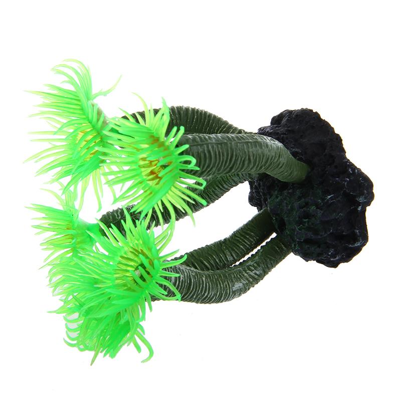 2X-Green-Aquarium-Fish-Tank-Silicone-Artificial-Sea-Plant-Coral-Flower-OrnaT5E1