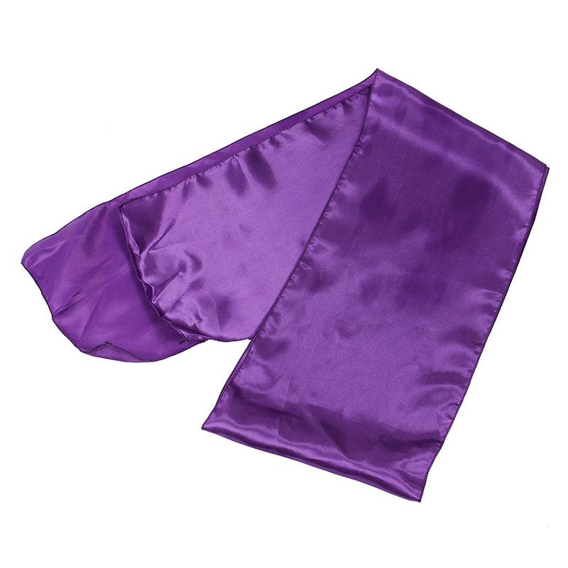 2X(Chemin Nappe Table Noeud Chaise Violet En Satin Pour Mariage Fete 30x275cm B1 3