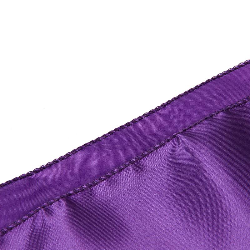 2X(Chemin Nappe Table Noeud Chaise Violet En Satin Pour Mariage Fete 30x275cm B1 4