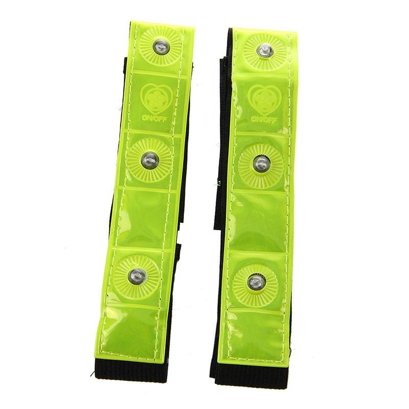 2-x-Reflective-Band-Arm-Leg-Strap-Belt-4-LED-Light-Cycling-Running-Jogging-X5Q1