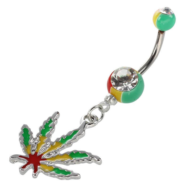 Clogante Flor de Cristal Barra Anillo Botón de Vientre Ombligo Joya de Pier Y1Q5