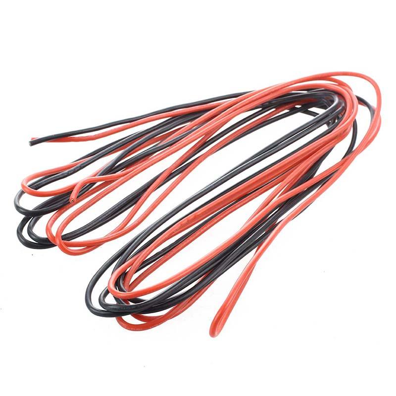 5X(2 x 3M 16 Gauge AWG Silikon Gummi Draht Kabel - Rot & Schwarz ...