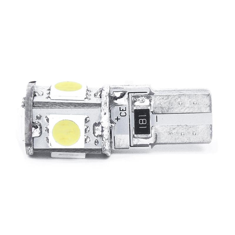 2-x-Bombilla-W5W-T10-5-LED-SMD-blanco-Lampara-luz-de-noche-del-xenon-coche-Ol7R3