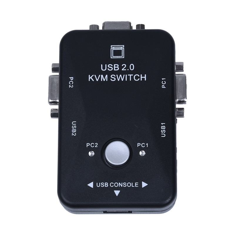 All-in-one-Mini-2-Ports-KVM-Manual-Switch-Box-Adapter-w-USB-Connector-Y9F1