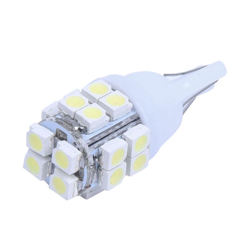 10-x-T10-Bombilla-de-coche-20-SMD-LED-luz-del-velocimetro-Lampara-de-fijaci-X3M1 miniatura 3