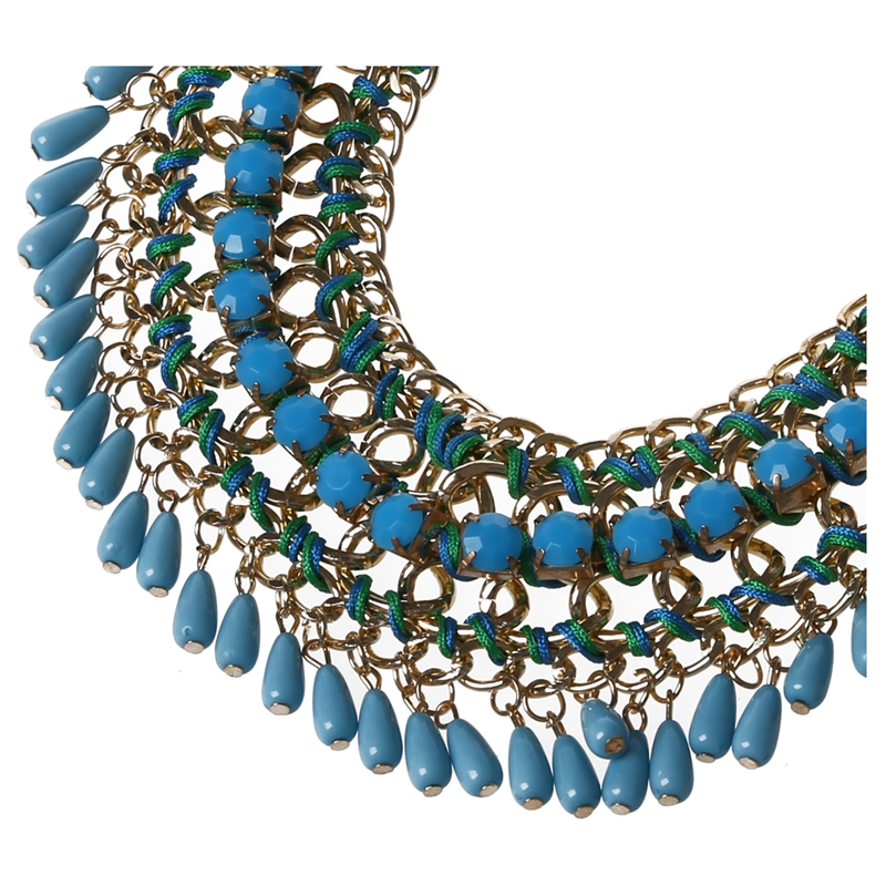 3X-Modeschmuck-Halsketten-fuer-Frauen-Wassertropfen-Seil-Kette-E9R7 Indexbild 4