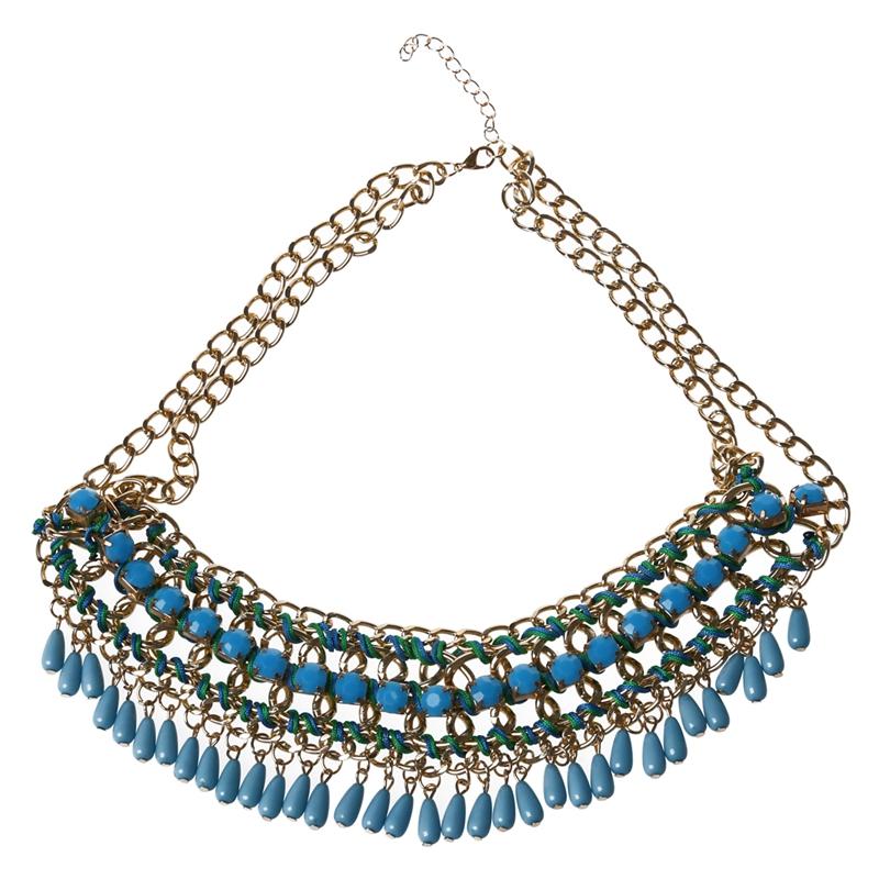 3X-Modeschmuck-Halsketten-fuer-Frauen-Wassertropfen-Seil-Kette-E9R7 Indexbild 2