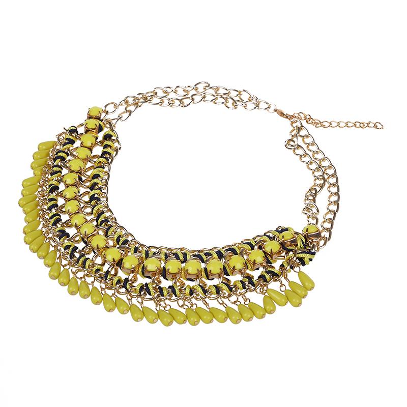 3X-Modeschmuck-Halsketten-fuer-Frauen-Wassertropfen-Seil-Kette-E9R7 Indexbild 15