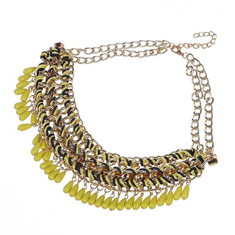 3X-Modeschmuck-Halsketten-fuer-Frauen-Wassertropfen-Seil-Kette-E9R7 Indexbild 16