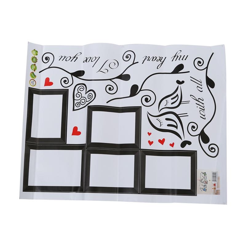 Stickers-Muraux-naturel-paroi-murale-de-fleur-et-cadre-de-photo-sticker-X9A8 miniature 2