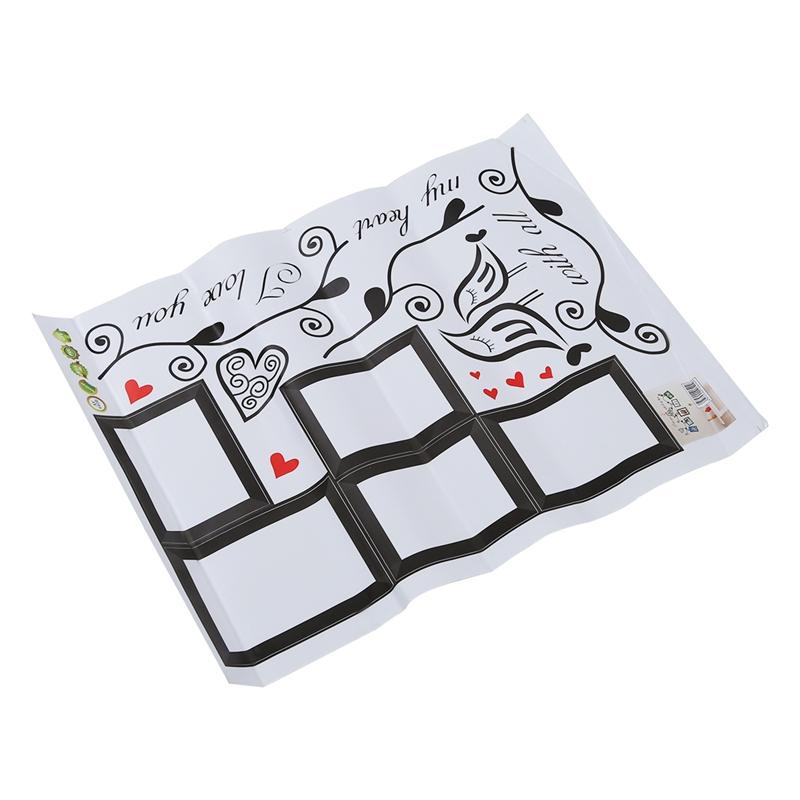 Stickers-Muraux-naturel-paroi-murale-de-fleur-et-cadre-de-photo-sticker-X9A8 miniature 3