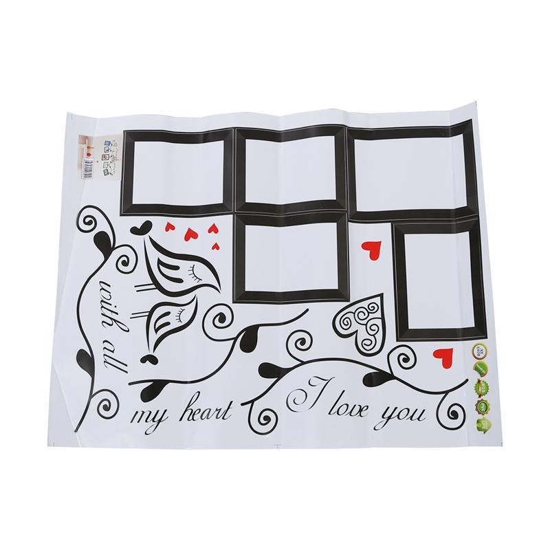 Stickers-Muraux-naturel-paroi-murale-de-fleur-et-cadre-de-photo-sticker-X9A8