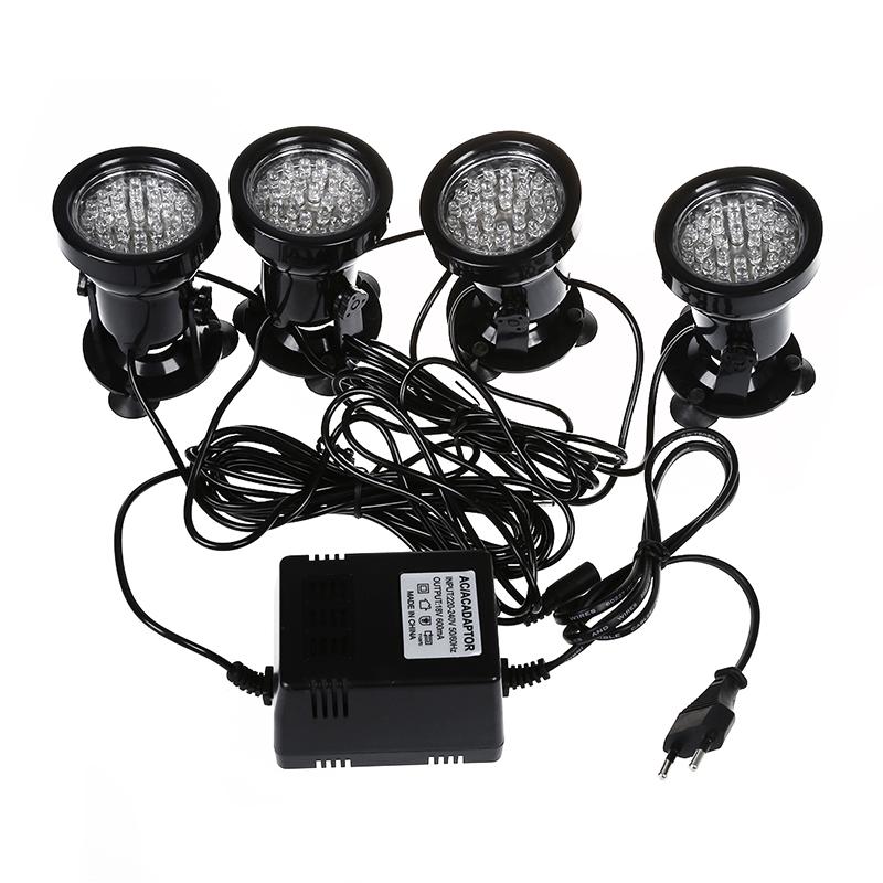 4pcs Super 36 LED Faerbige unterwasserleuchte Strahler Beleuchtung Unterwas O6S7