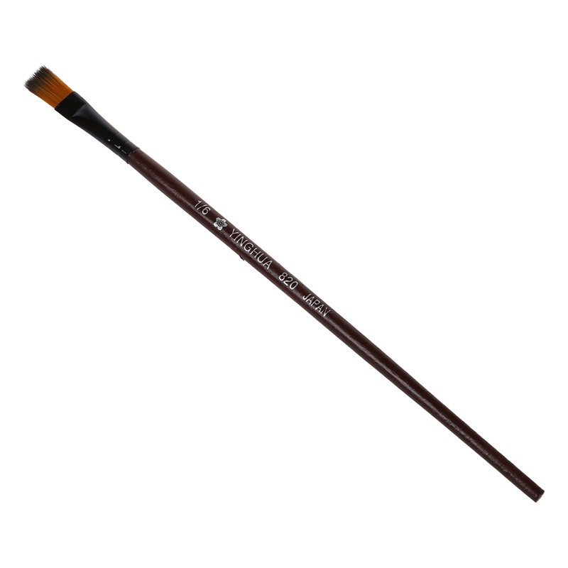 Pack of 6 Art Brown Nylon Paint Brushes for Acrylic N7M2
