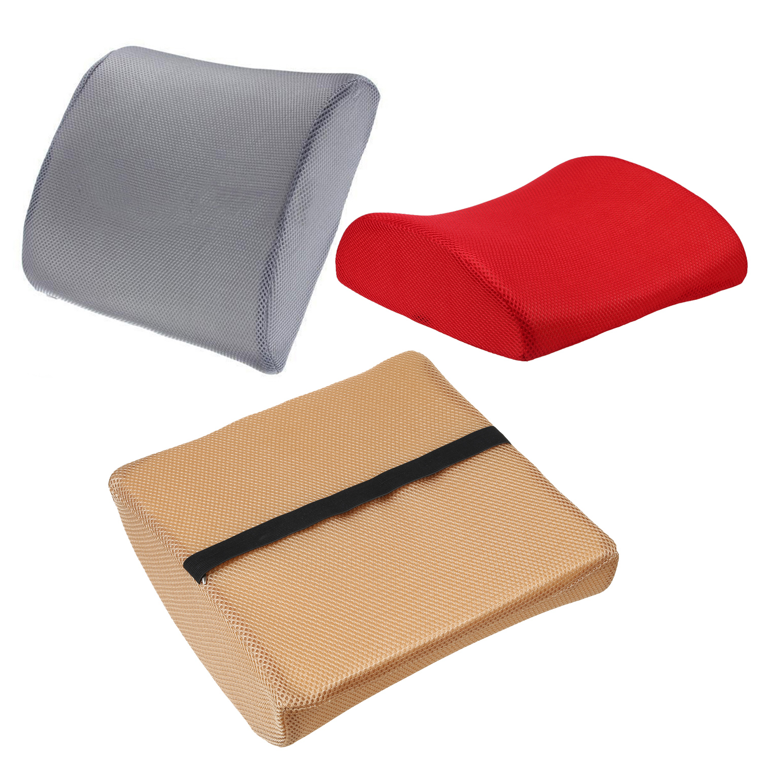 car office home memory foam seat chair lumbar back support cushion