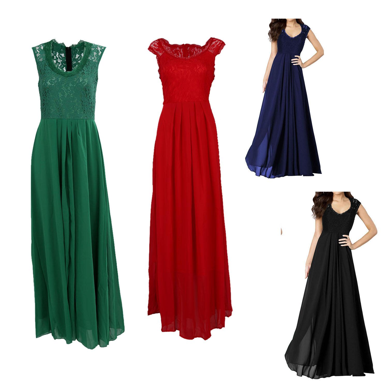 6X(Woherren Casual Deep- V Neck Sleeveless Vintage Maxi schwarz Dress Dark Blau U1L6