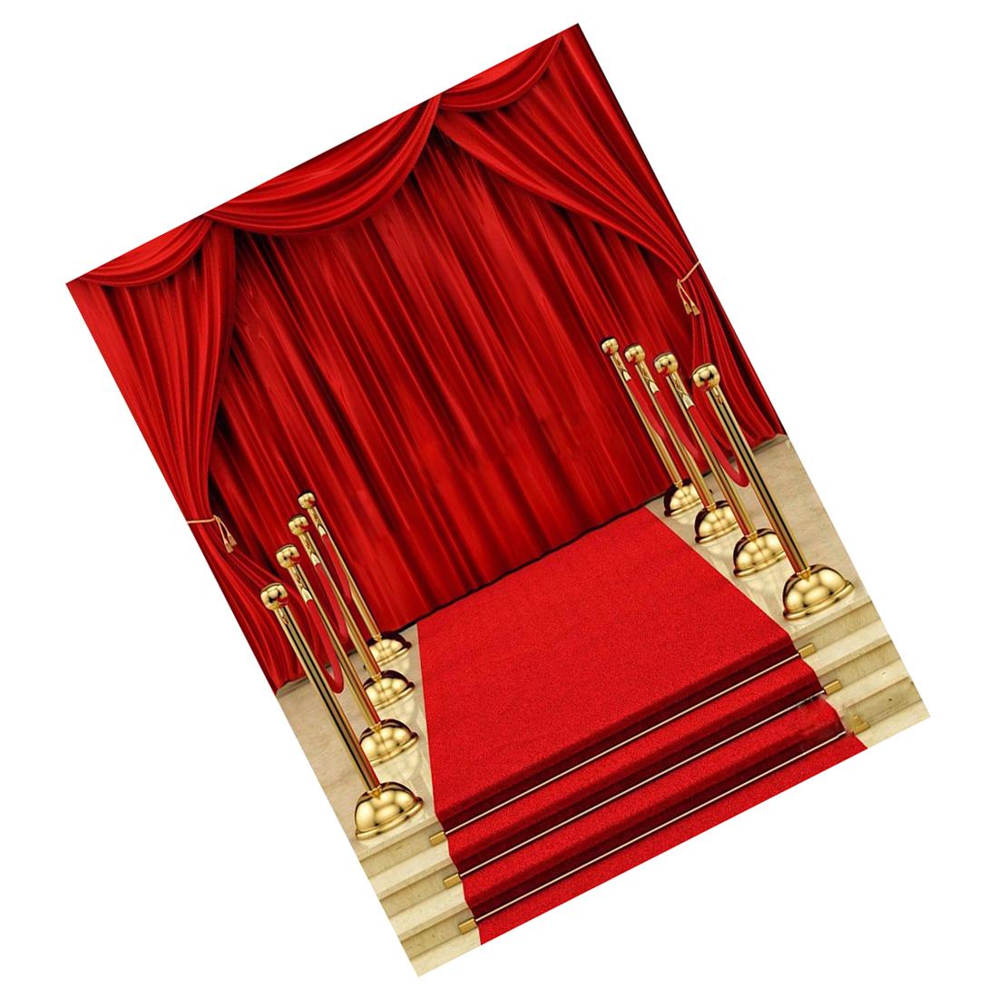 5x7ft Vinyl Red Carpet Curtain Backdrop Studio Photography