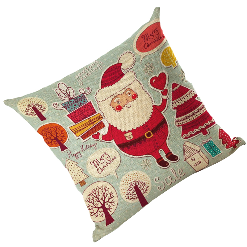 Baumwollkissenbezug Leinen Kissenbezug Stillleben Weihnachten Xmas ver X2Q5