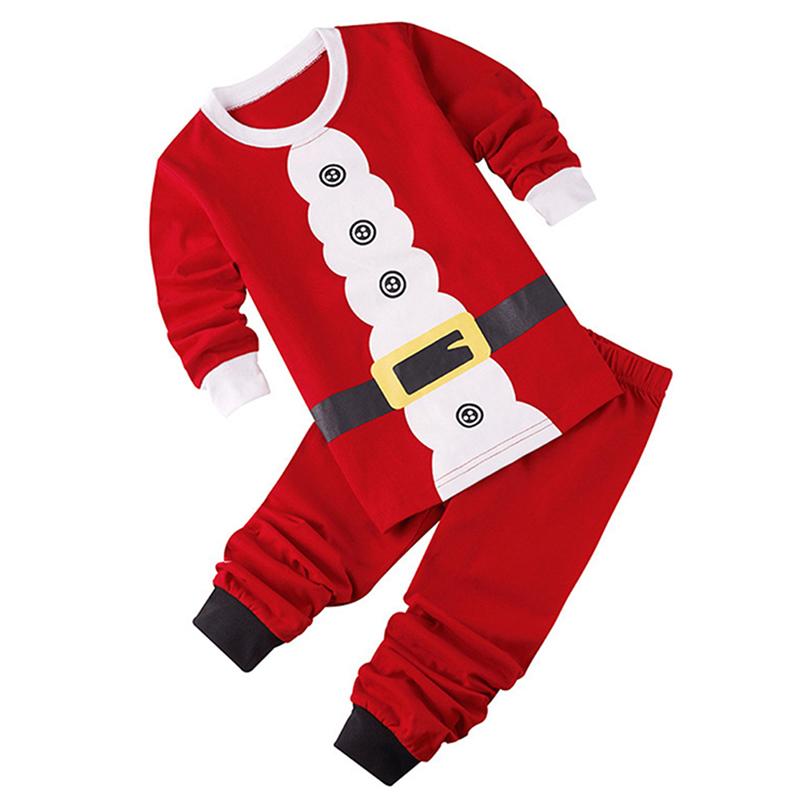 0675b64e14c68 Ensemble de vetement de Noel de Pere Noel pour bebe Tops + Pantalon Enfants  T1B5