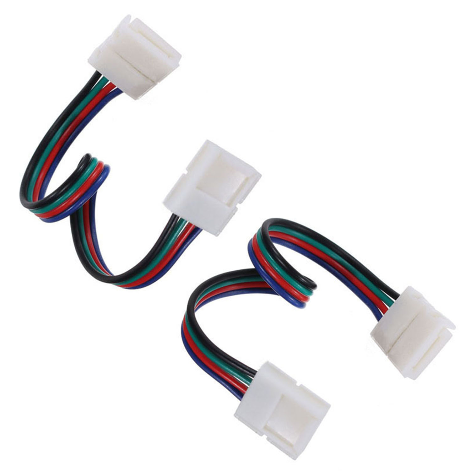 1x10x Rgb 3528 5050 Led Strip Light Adapter Dc Bolt Connectors Wiring For Single Color Smd Ebay Product Connector With Line Width 10mm Used And No Need Soldering