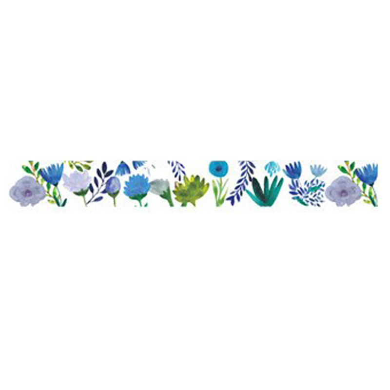 1-5cm-Wide-Luxuriant-Flowers-Washi-Tape-Adhesive-Tape-DIY-Scrapbooking-Stic-F9L9