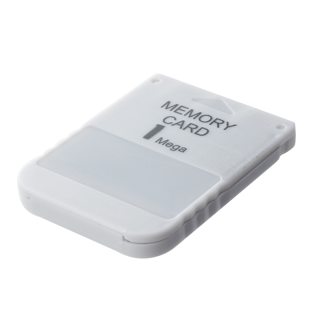 Specification:Color: White. * Size: 55*41*6mm. * Net weight: 10g. * Packing content:1x Memory Card For Playstation 1 One PS1 PSX Game