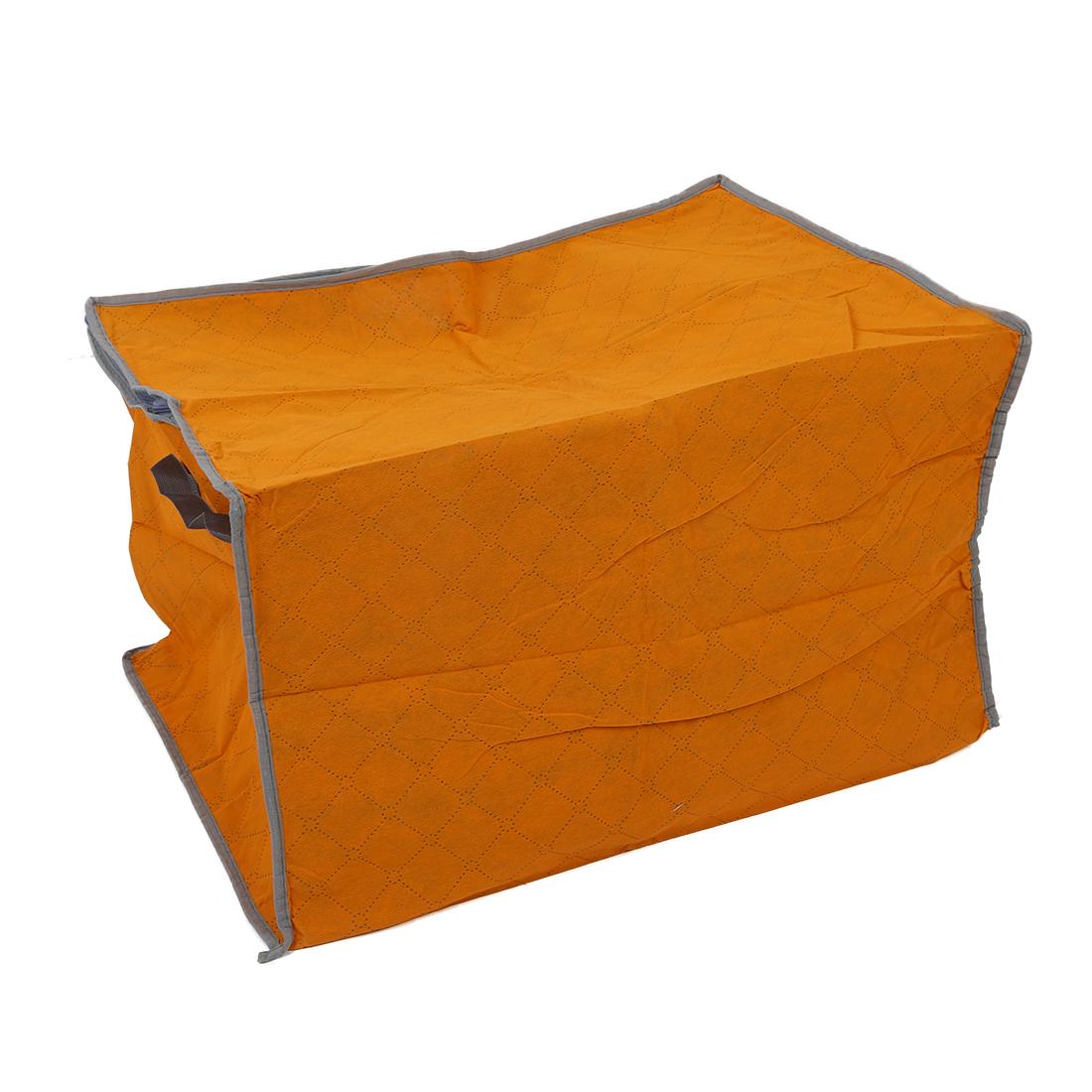 orange quilt blanket pillow under bed storage bag box