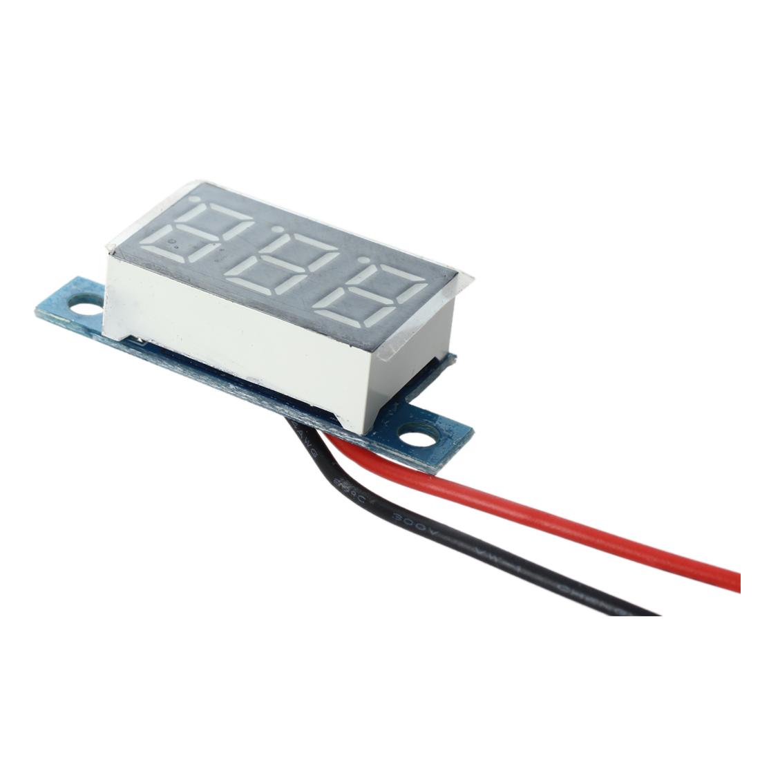 mini gelbe led elektrische digital voltmeter volt meter panel 3 3 17v y9c1 s6x5 ebay. Black Bedroom Furniture Sets. Home Design Ideas