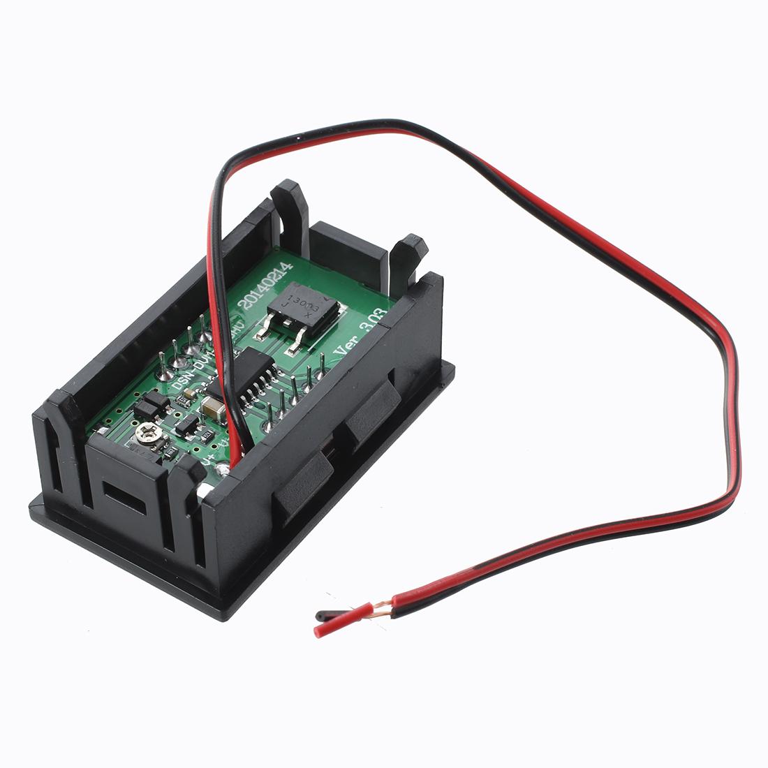 Mini Panelmeter Spannungsanzeige Voltmeter DC 7-120V 20 mA Rot zwei ...