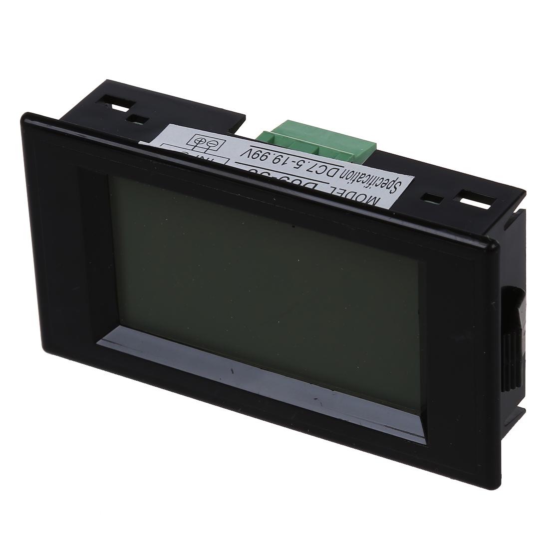 Lcd Panel Meter : Blue lcd digital volt panel meter voltmeter v j r