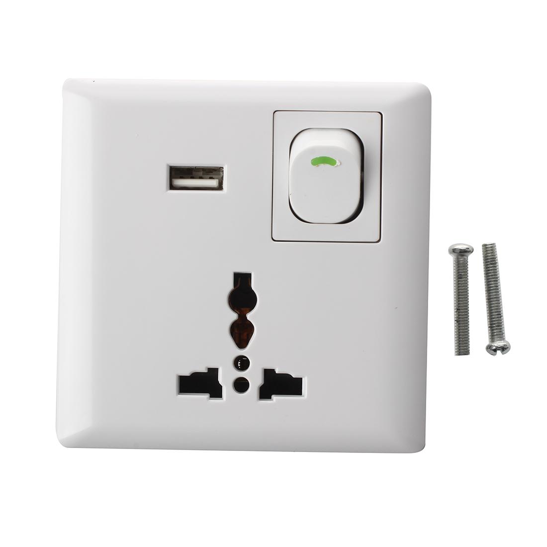 Base enchufe usb con interruptor 10a 250v pared color - Enchufes con usb ...