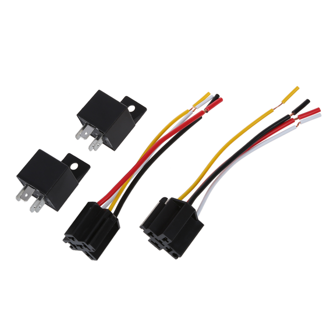 Details about 2 x Car Relay Automotive Relay 12V 40A 4 Pin Wire with on