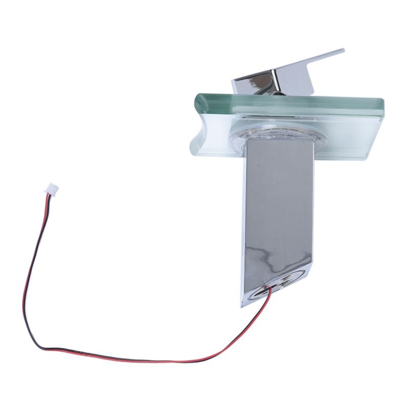 Modern Einhand Wasserfall Badezimmer Waschbecken LED
