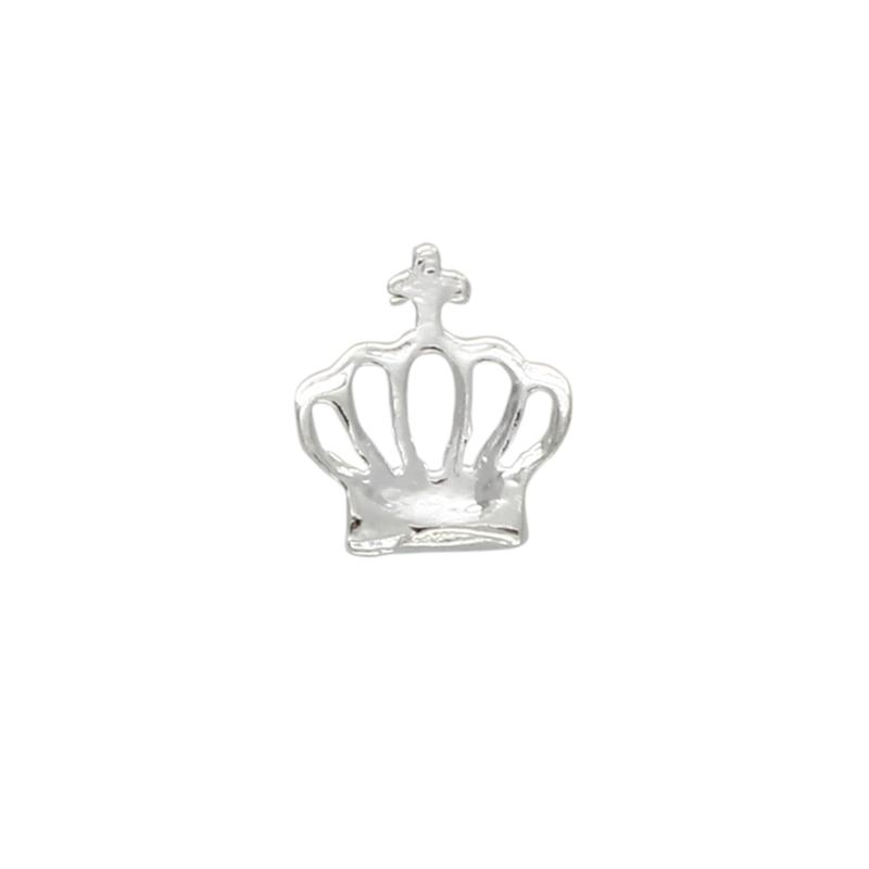 5pzs-Decoracion-de-metal-de-diamante-de-imitacion-en-forma-de-corona-3D-de-arte