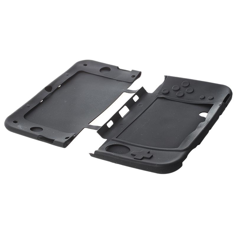 1X-Silikon-Tasche-Etui-Schutz-Huelle-Case-Cover-Skin-fuer-Nintendo-3DS-XL-LL-GY Indexbild 2