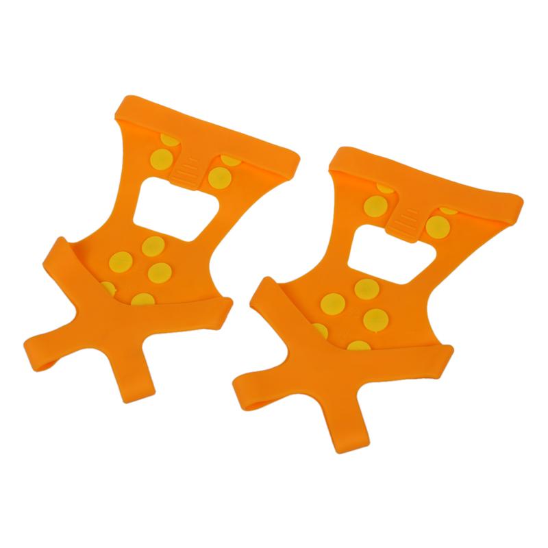 2X( Coppia di ghiaccio racchette da neve Spikes Grips ramponi Tacchetti Tre Q3P2