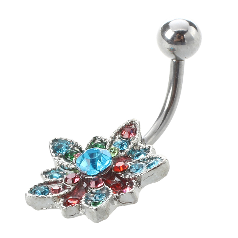 Piercing Nombril Crystal En Acier Chirurgical 316l Without Return Body Piercing Jewelry Jewelry & Watches