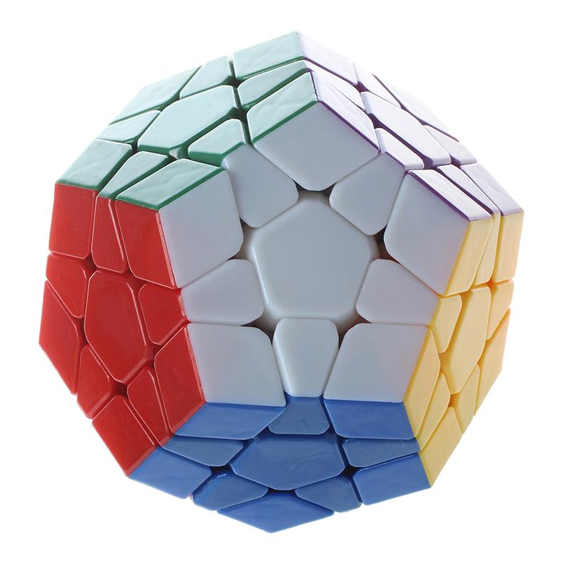 10X(Megaminx I 12 Faces Stickerless blanco Twisty Puzzle Magic CarreSpeedsol 2X2)