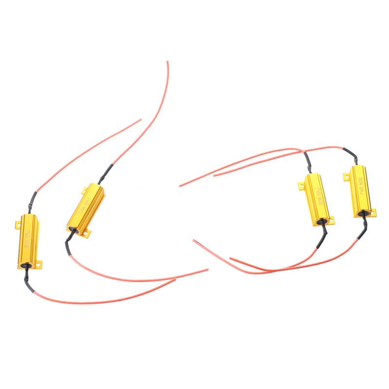 Pour De 4pcs 50w Ampoule Resistance Led Voiture X8l4 Signal Sur 6rj Charge Détails Tournez GjpqUzMLSV