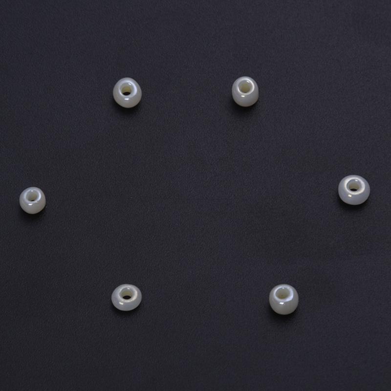 2 Enfilades Perles verre Spacer Facette Rond Accessoire 6mm Dia.B29216
