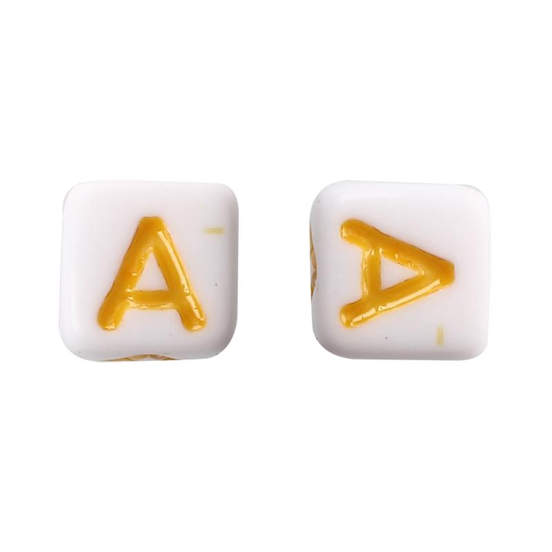 "1X 200 X Coin Plastic Alphabet Letter Loose Beads 0.27/""  Z4T1"