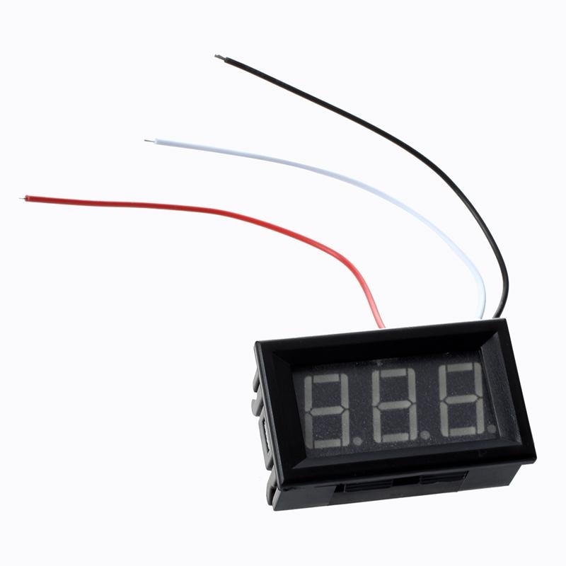 Mini panel Meter voltage display voltmeter DC 0-200 V 20 mA Green three cables E 4
